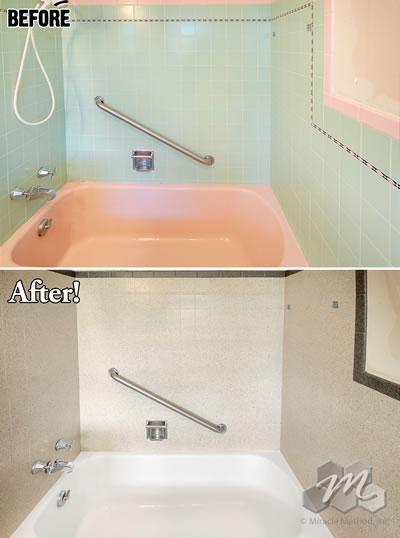 bathtub refinishing cost miracle method. Black Bedroom Furniture Sets. Home Design Ideas