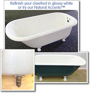 Clawfoot Bathtub Refinishing – Cast Iron Tub Refinishing – Miracle