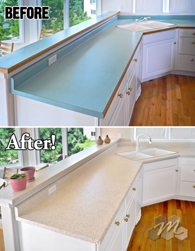 Countertop resurfacing miracle method for Replace bathroom countertop