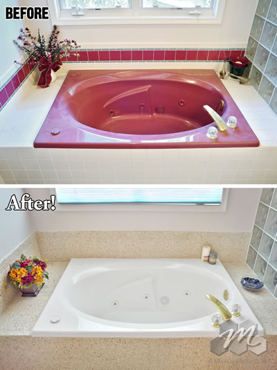 the miracle method process to refinish a bathtub is a