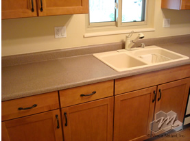 Kitchen On Kitchen Countertop And Backsplash Makeover By Miracle Method