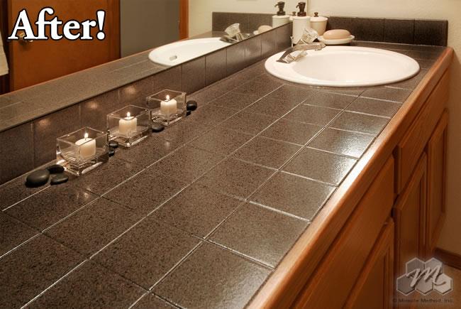 Reglazing Tile Refinished bathtubs, countertops resurfaced, tile reglazing