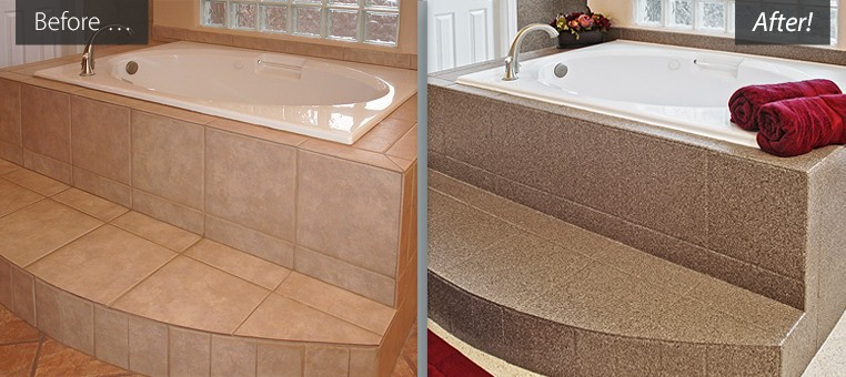 Refinished bathtubs, countertops resurfaced, tile reglazing