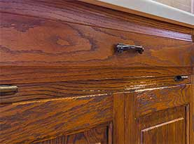 Cabinet Refinishing - Before Transformation