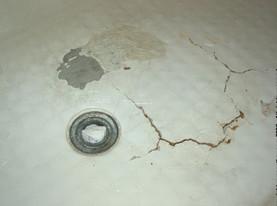 fix crack in bathtub. fiberglass tub refinishing - before transformation fix crack in bathtub