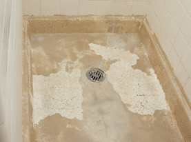 Shower Refinishing - Before Transformation