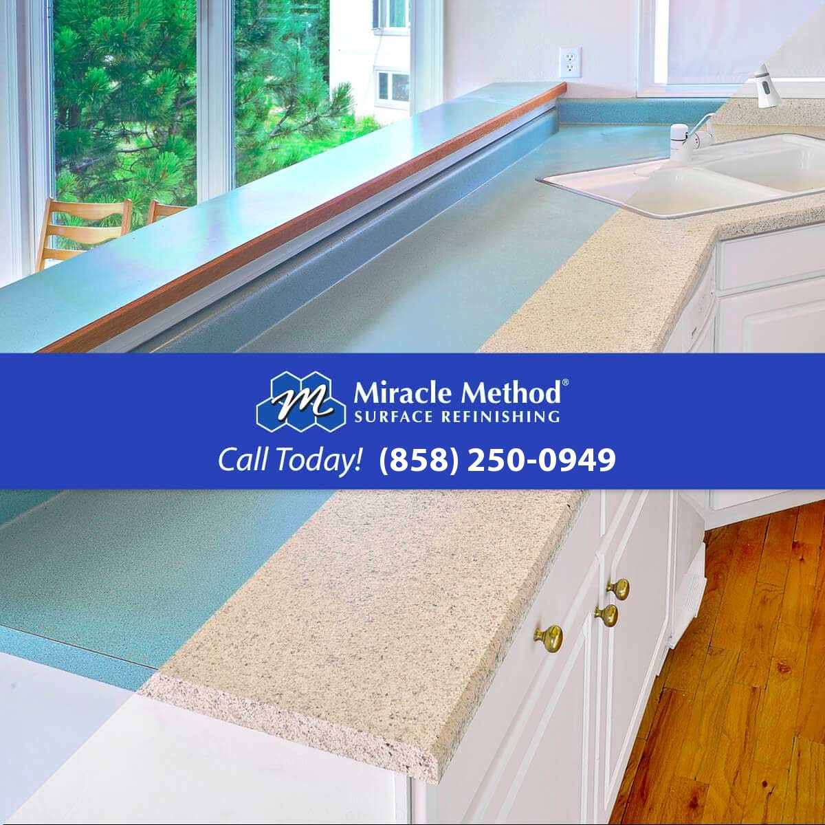 Surface refinishing miracle method san diego for O kitchen mira mesa