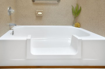 we lower the side of your tub making it safer to get in and out
