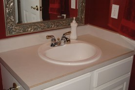 Bathroom Vanity Refinishing Before