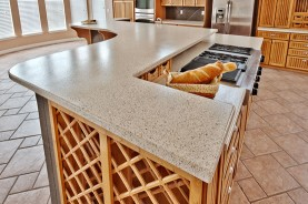 chestnut wood kitchen corian countertop combining materials reclaimed countertops and