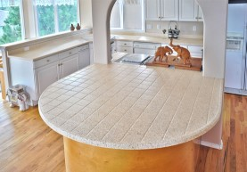 After Kitchen Tile Countertops