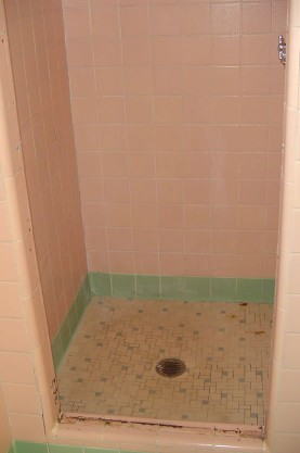 Tile Shower Shower Pan Refinishing